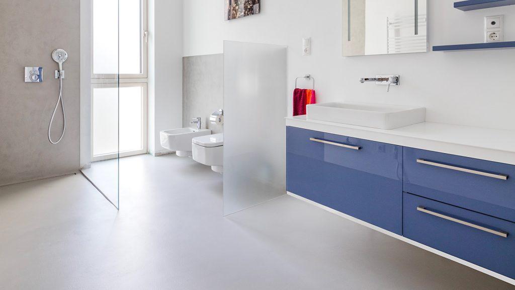 Erstellung eines badezimmers ohne fliesen - Ideal Work