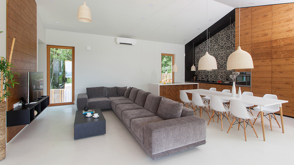 idee ristrutturazione soggiorno living - pavimenti e rivestimenti