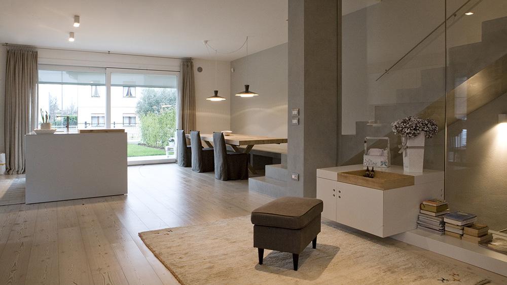 ristrutturazione soggiorno abitazione privata